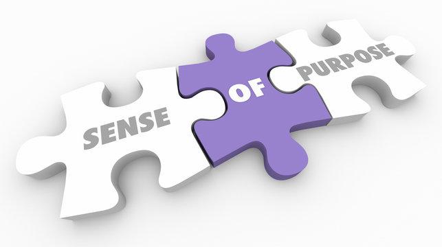 Sense of Purpose Mission Puzzle Pieces 3d Illustration