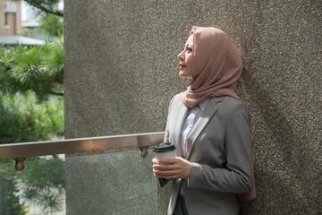 attractive pretty female muslim business employee