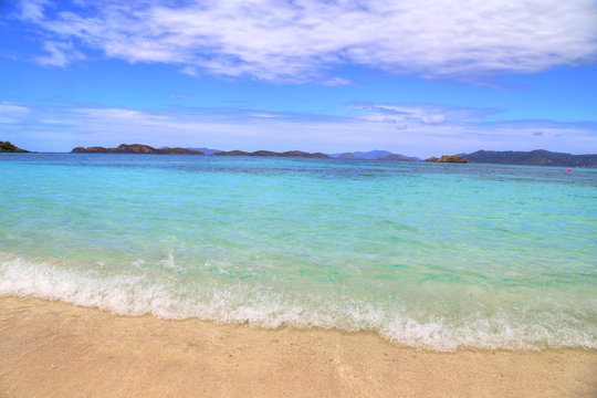 Sapphire beach on St. Thomas island