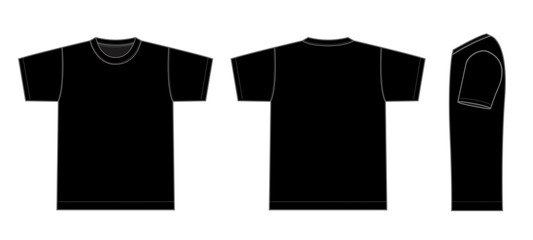 Tshirts illustration (black / side)