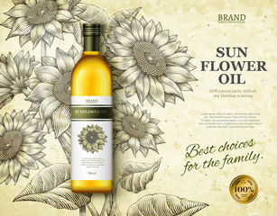 Sunflower oil ads
