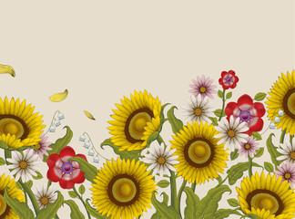 Decorative flowers design