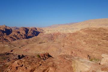 Panoramic view of Petra from the High Place of Sacrifice, Jordan
