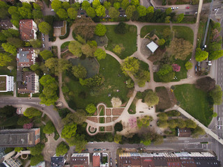 arial view of park in city, Germany
