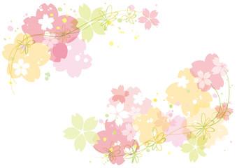 桜 春ポスター 横
