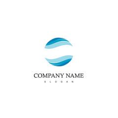 Abstract Circle water logo design