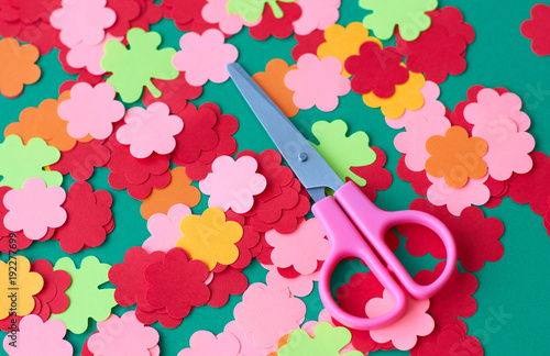 Scissors and paper flowers for applique preparation for the spring scissors and paper flowers for applique preparation for the spring holiday mightylinksfo