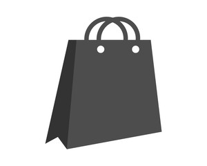 black shopping bag image vector icon logo