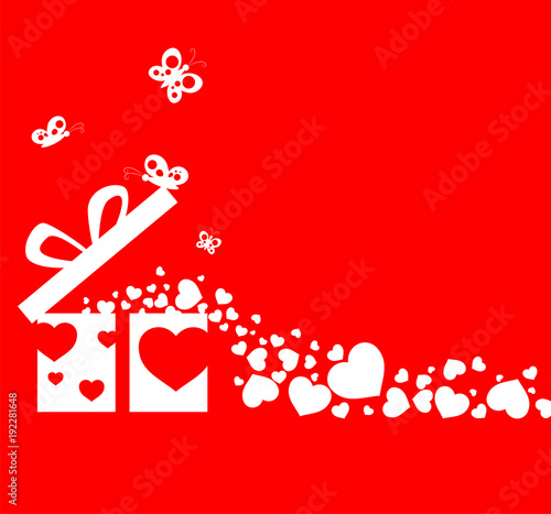 Illustration Happy Valentine Day With Ornament For Decorative