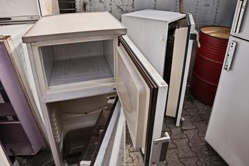 fridges dump, broken fridges containing cfc