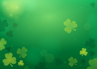 Canvas Prints For Kids Three leaf clover abstract background 2