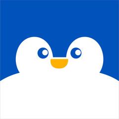 Cute Smiley Pengiun Face Background Illustration