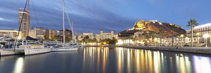 Panoramic view of the city of Alicante