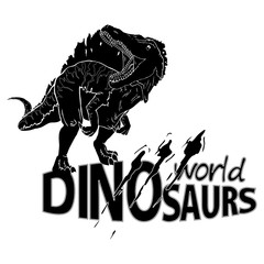 Logo World of Dinosaurs. Vector illustration.