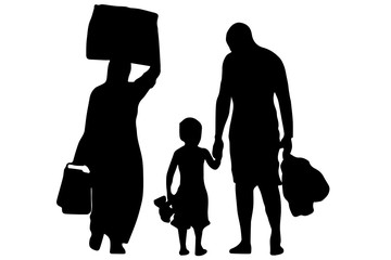 Immigration - Refugees - vector