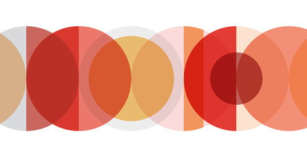 Digital painting. Abstract geometric colorful vector banner and background. Circles in red