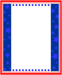 Abstract American flag Patriotic symbols frame with copy space for text.