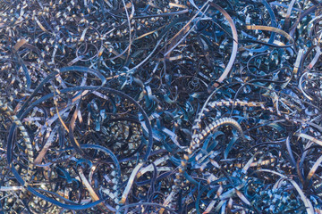 Background or texture - close-up metal shavings