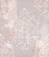 Damask pattern antique decor Vector illustrations