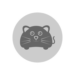 Cute Mouse Circular Icon Illustration