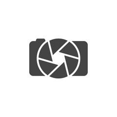 Photo camera logo, icon