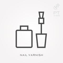 Line icon nail varnish