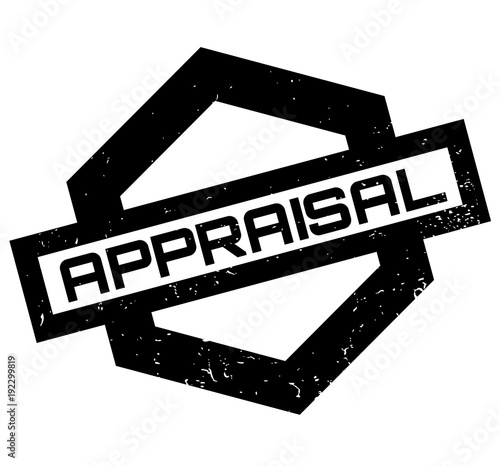 Appraisal rubber stamp  Grunge design with dust scratches