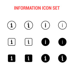 Information icon set , Helping symbol