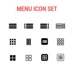 Menu icon set
