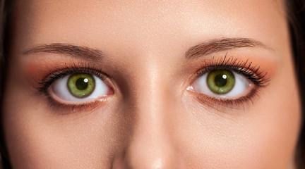 Close up of beautiful woman eyes