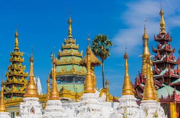 archictecture details of the Shwedagon Pagoda at Yangon (Rangoon) in Myanmar (Burma)