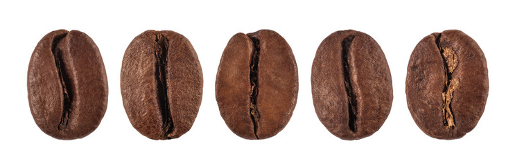 Poster Café en grains coffee bean isolated on white background, nature