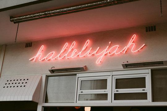 Hallelujah Neon Sign