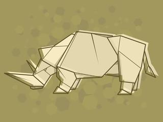 Vector abstract illustration rhinoceros.