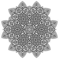 Vector Mandala. Vintage decorative elements. Oriental pattern, vector illustration. Islam, Arabic, Indian, moroccan,spain, turkish, pakistan, chinese, mystic, ottoman motifs. Coloring book page.