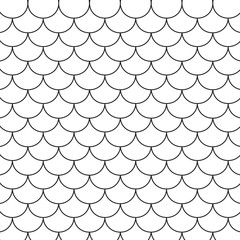 black and white pattern, fish scales- vector illustration