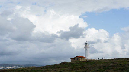 Photo of coastal zone with lighthouse