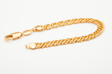 Wall Mural - beautiful photo close-up gold bracelet jewelry, chain, jewelry