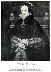 Portrait of Mary I of England by Antonio Moro, 1554 (from Spamers Illustrierte Weltgeschichte, 1894, 5[1], 594)