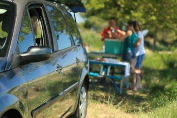 pique-nique en famille dans la campagne