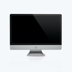 3D render of a desktop computer on a white background