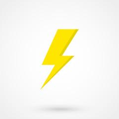 Yellow lighting icon vector illustration