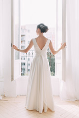 Wedding in the European style in the studio and on the street.Studio in Scandinavian style