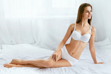 Beauty Female Body. Young Woman With Smooth Skin.