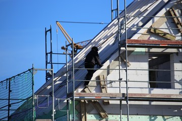 Carpentry work, roofing