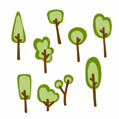 Tree cartoon vector illustration