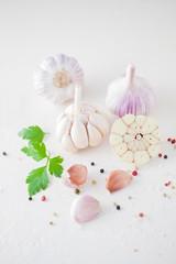 Garlic Cloves and Garlic Bulb