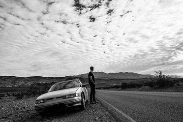 une pause au milieu du désert
