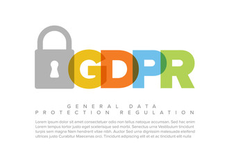 European GDPR concept flyer template