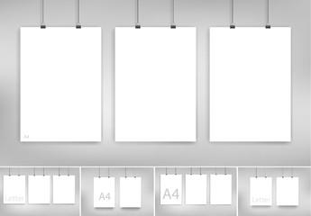 Hanging Posters Mockup Set 1